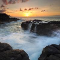 Paradise Sunset Splash Art Prints & Posters by Mike Dawson