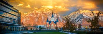 Provo City Center Temple - Mountain Scene