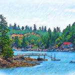 """Friday Harbor Sketched"" by Kirtdtisdale"