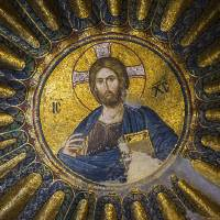 """Byzantine Jesus mosaic at Chora church Istanbul"" by Joel Carillet"