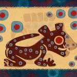 """Mayan Baby Jaguar Textile 3D"" by ReneeLozenGraphics"
