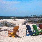 """Beach Chairs"" by mdarrah"