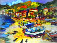 Impressionist Italy Seaside Summer Vacation