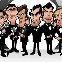 Six Faces of Bond Art Prints & Posters by Steve Rampton