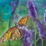"""Hawaiian Butterfly in Lavender"" by DianaNadalFineArt"