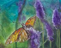 Hawaiian Butterfly in Lavender