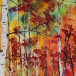 """Fall Colors Embellish Oregon Birch"" by DianaNadalFineArt"