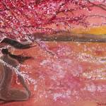 """Dawn Meditation Amongst Cherry Blossoms"" by DianaNadalFineArt"