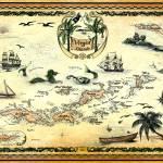 """Virgin Islands Nautical Chart (map of the virgin i"" by savanna"