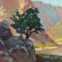Lone Sentry print plein air corrected Art Prints & Posters by Kevin McCain