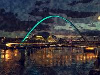 River Tyne Newcastle Night Scenery