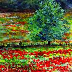 """French Landscape Poppies of Somme"" by GinetteCallaway"