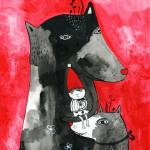 """Little Red Riding Hood and Two Wolfs"" by krize"