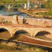 Stone Arch Bridge Art Prints & Posters by Edward Bock