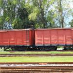 """Box Cars in a Rail Yard"" by rhamm"
