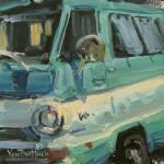 """""""Dodge in Blue and White"""" by KimVanDerHoek"""