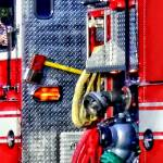 """Fire Truck With Hoses and Ax"" by susansartgallery"