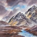 """Dramatic Landscape With Mountains"" by IrinaSztukowski"