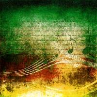 Abstract Music Christmas Art Prints & Posters by Elizabeth Mix