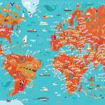 """World Map by Nate Padavick"" by TheyDrawandCook"