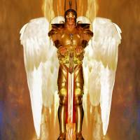 Archangel Uriel Art Prints & Posters by Valerie Anne Kelly
