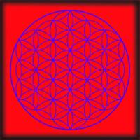 Flower of Life in Red & Purple