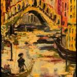 """Old Venice Sunset Glow Rialto Bridge"" by GinetteCallaway"