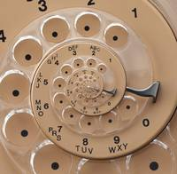 Spiral Retro Vintage Roatry Phone Dial Droste