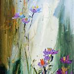 """Wildflowers and Bees Oil Painting Ginette"" by GinetteCallaway"