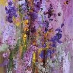 """Lavender and Bees Impressionist Oil Painting"" by GinetteCallaway"