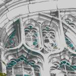 """Bond Chapel Tracery in Grey"" by LeonSarantosArtist"