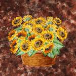 """Basket With Sunflowers"" by IrinaSztukowski"