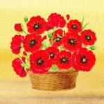 """Basket With Red Poppies"" by IrinaSztukowski"