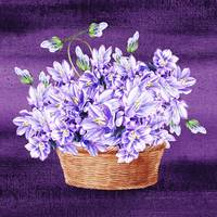 Basket With Purple Flowers