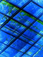 ABSTRACT SQUARES BLUE-GREEN, Edit D