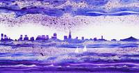 San Francisco Blues City Skyline Painting
