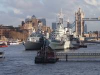 Warships On The Thames