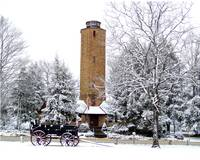 Homesteads Tower in the Snow