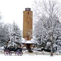 Homesteads Tower in the Snow Art Prints & Posters by Vicki S. Vaden