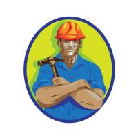 """Construction Worker Foreman Arms Crossed WPA"" by Aloysius Patrimonio"