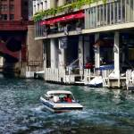 """Chicago IL - Motorboat Near Dearborn Street Bridge"" by susansartgallery"