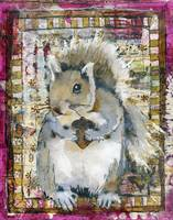 squirrel art | woodland creatures | What A Nut