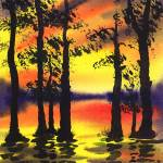 """Sunset Through The Trees"" by IrinaSztukowski"
