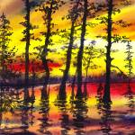 """Sunset Through The Forest"" by IrinaSztukowski"