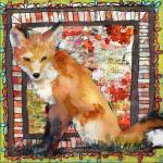 """Mixed media Fox Print 