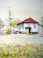 Old house Serbia - original watercolor art