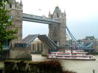 Ferry Under Tower Bridge