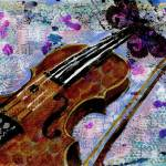 """Violin Painting, Monarch Maestro"" by schulmanart"