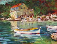 Croatian Island Port 11x14