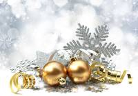 Christmas Gold and Silver Ornaments